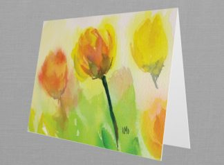 Yellow Tulips Folded Card