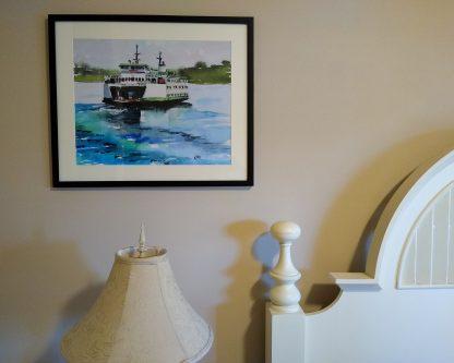 Ferry M/V Chelan - Framed