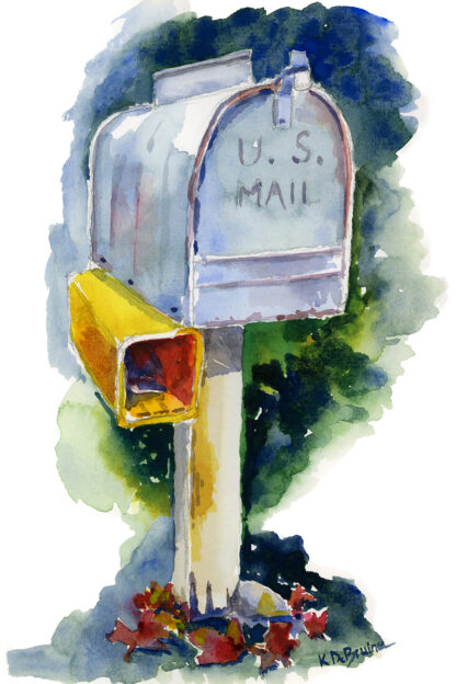 Mailbox in the Fall
