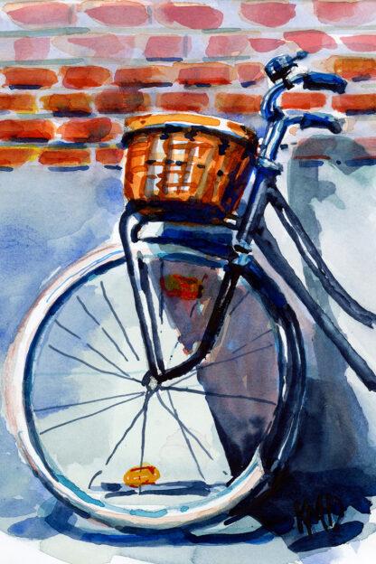 Bike and brick wall